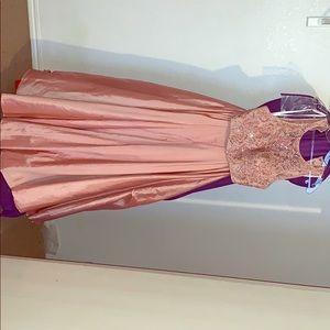 Long beautiful two piece princess style prom dress